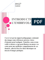 1) Introduction à l'Embryologie