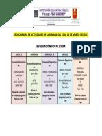 CRONOGRAMA DE TRABAJO SEMANA 2