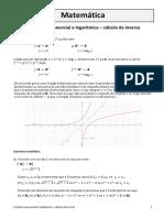 Funções Exponencial e Logarítmica - Cálculo Da Inversa