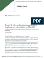 Bolsonaro diante do coronavírus