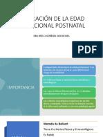Valoración de La Eg Postnatal