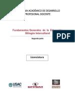 2 Fundamentos Generales de la   Educación Bilingue Intercultural ( parte  2)