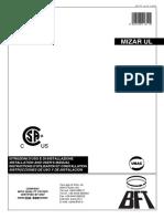 Mizar Ul - 120v - Control Board - Manual
