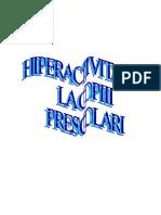 hiperactivitatea la copiii prescolari