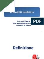 3.1 Disabilità intellettiva  slide