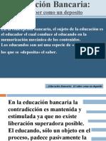 Educacion Bancaria, Educ Problem....