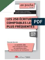 Les 250 écritures comptables