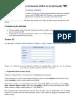 Formulário ExtJS para armazenar dados no mysql usando PHP