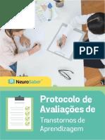 Protocolo de Avaliações de Transtornos de Aprendizagem - NeurosaberEd.3