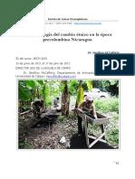 La arqueología del cambio étnico en la época  precolombina Nicaragua