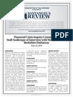 Transcript of Warren Buffett Interview With FCIC