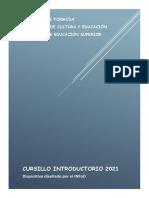 DISPOSITIVO CURSILLO INTRODUCTORIO 2021 - INFoD
