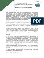 Carta Informativa de Vacunación Escolar Influenza 2021