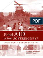 Food Aid or Food Sovereignty
