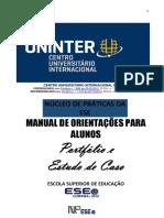 ORIENTAÇÕES PARA ALUNOS - Portfólio e Estudo de Caso 2019