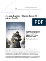 Novela 'Os Salvaré La Vida' (Reseña)