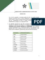 Instrucciones para Administración del CUPO PAC 2021