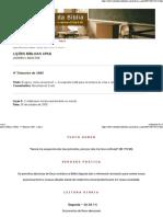 Lições Bíblicas CPAD - 4º Trimestre 2005 - Lição 5