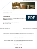 Lições Bíblicas CPAD - 4º Trimestre 2005 - Lição 4