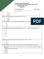 Test de Evaluare Nationala Varianta 19 Tot Pentru Februarie 2021