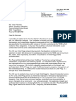 Letter to TDSB from Toronto City Manager