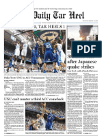 The Daily Tar Heel for March 14, 2011