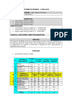 Formato Informe De pruebas a Realizar Director De Maketing