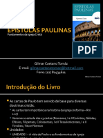 Epistolas Paulinas - Unidade I