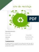 Proyecto de reciclaje PORTAFOLIO
