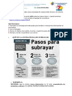 Guia 7° lenguaje, estrategia subrayar