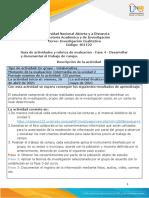 Guía de Actividades y Rúbrica de Evaluación - Fase 4 - Desarrollar y Documentar El Trabajo de Campo
