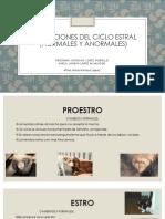 ALTERACIONES DEL CICLO ESTRAL (NORMALES Y ANORMALES)