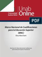 marco nacional de cualificaciones para educ superior