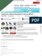 Seguridad anti robots dotNet