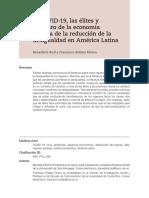 El COVID-19, las élites y el futuro de la economía política de la reducción de la desigualdad en América Latina