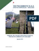 Manual de Logueo Geológico Carbon ACH