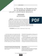 Por um Plano Nacional de Alfabetizaçao capaz de respeitar as diferenças - Exemplo de artigo - UA 2