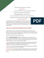 CLASE DE QUIMICA DE LAS CARACTERISTICAS DE LOS ALIMENTOS