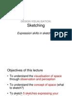 LECTURE Design Visualisation Sketching 25 Jan2011