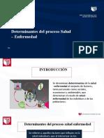 SESIÓN 2 - DETERMINANTES PROCESO SALUD ENFERMEDAD