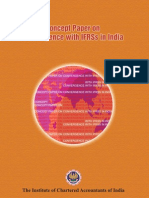 Concept paper for IFRS convergence by ICAI