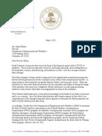 5-6-21 Gov McMaster to Dir Ellzey Re Federal UI Benefit Termination