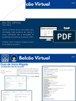 Balcão Virtual - Usuário externo v2.0