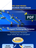 Materi4_Teori Dam Model Pembangunan Pertanian