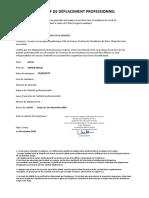 DEPLACEMENT PROFESSIONEL COVID-19
