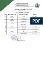Jadwal Pat 8 Smpn 1 Ktg 2021