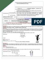 GUIA No. 22 ALGEBRA SOLUCION DE PROBLEMAS CON UNA INCOGNITA