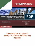 APROXIMACION DEL MODELO NORMAL AL MODELO BINOMINAL Y AL MODELO DE POISSON