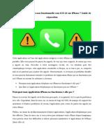 Application Téléphone Non Fonctionnelle Sous IOS 14 Sur iPhone