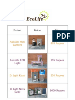 Ecolife Price List 14.03.2011